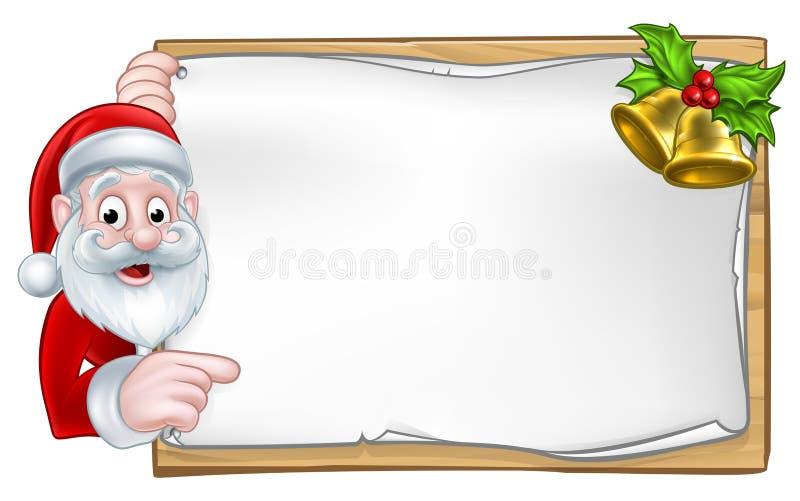 Santa Christmas Sign ilustração royalty free