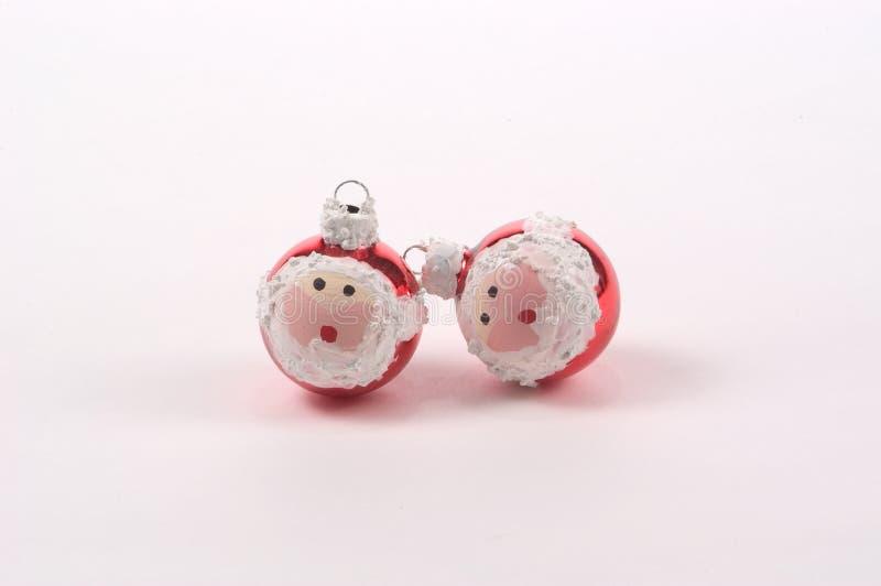 Santa Christmas Tree Ornaments royalty free stock images