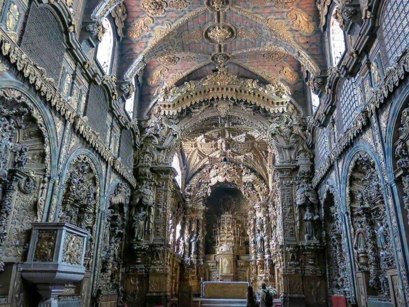 Santa Clara Church em Porto fotos de stock royalty free