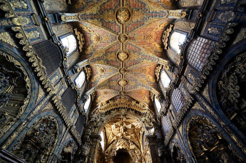 Santa Clara Church, Oporto, Portugal imagen de archivo