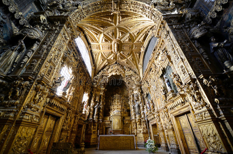 Santa Clara Church, Porto, Portugal photo stock