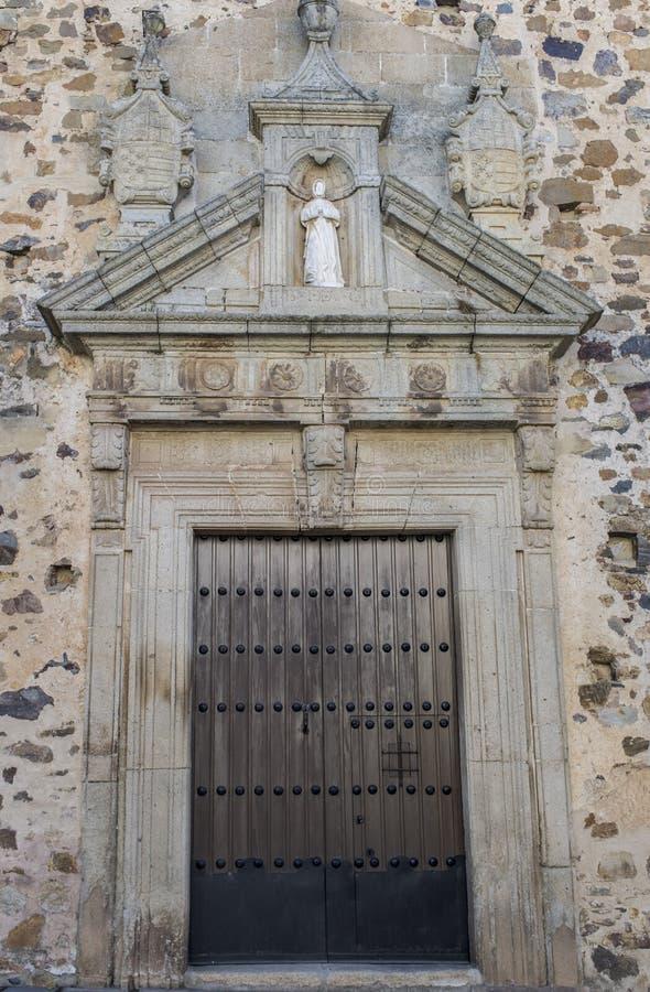 Santa Clara Convent Facade, Caceres image libre de droits