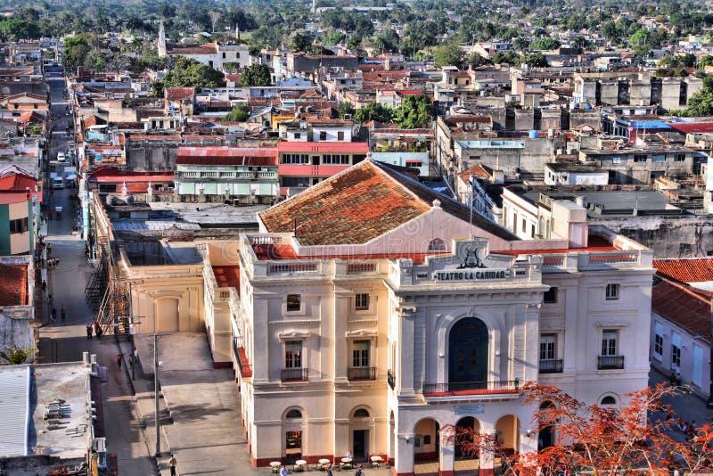 Santa Clara, Cuba. Aerial view of old architecture in Santa Clara, Cuba royalty free stock photo