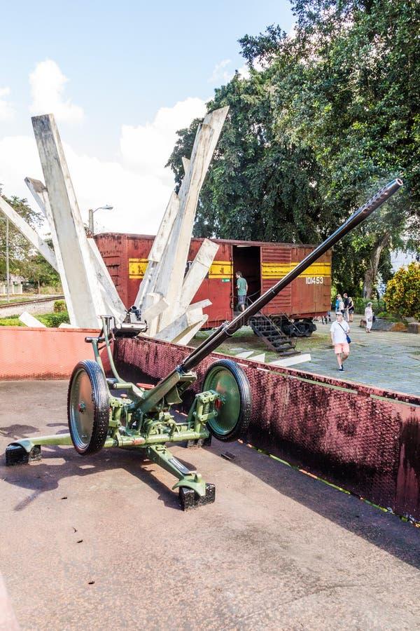 SANTA CLARA, CUBA - 13 DE FEBRERO DE 2016: Monumento al descarrilamiento del tren blindado en Santa Clara, Cub foto de archivo