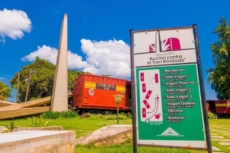 SANTA CLARA, CUBA - 8 DE SEPTIEMBRE DE 2015: Este tren fotografía de archivo libre de regalías