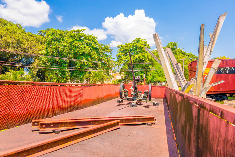 SANTA CLARA, CUBA - 8 DE SEPTIEMBRE DE 2015: Este tren fotos de archivo