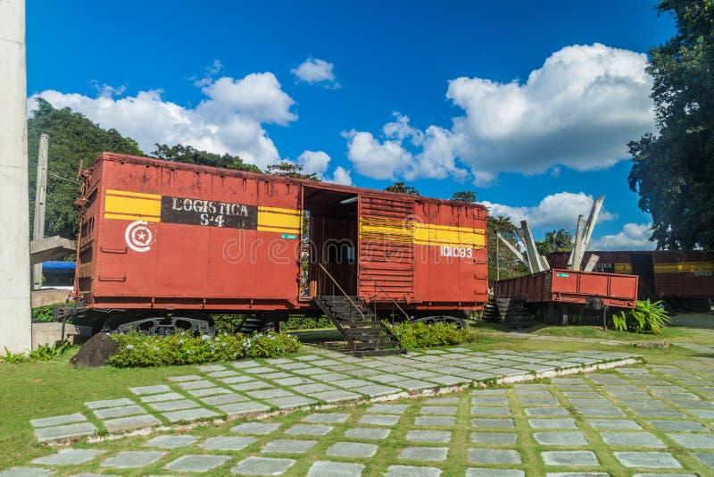 SANTA CLARA, CUBA - 13 FÉVRIER 2016 : Monument au déraillement du train blindé en Santa Clara, CUB photographie stock libre de droits
