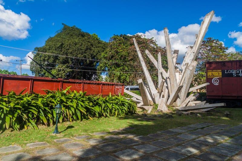SANTA CLARA, CUBA - 13 FÉVRIER 2016 : Monument au déraillement du train blindé en Santa Clara, CUB photographie stock