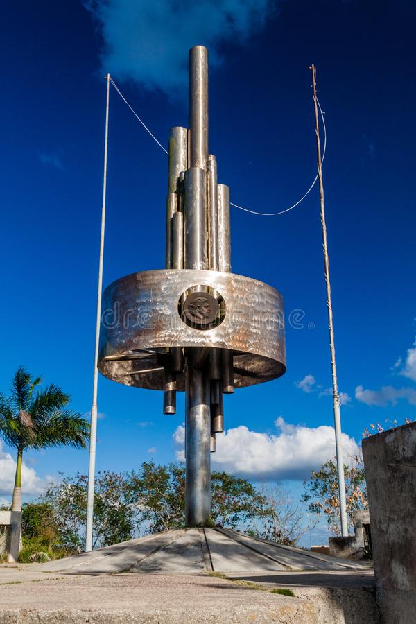 SANTA CLARA, CUBA - 13 FÉVRIER 2016 : Monument de Che Guevara à la colline de Loma del Capiro en Santa Clara, Cu photographie stock