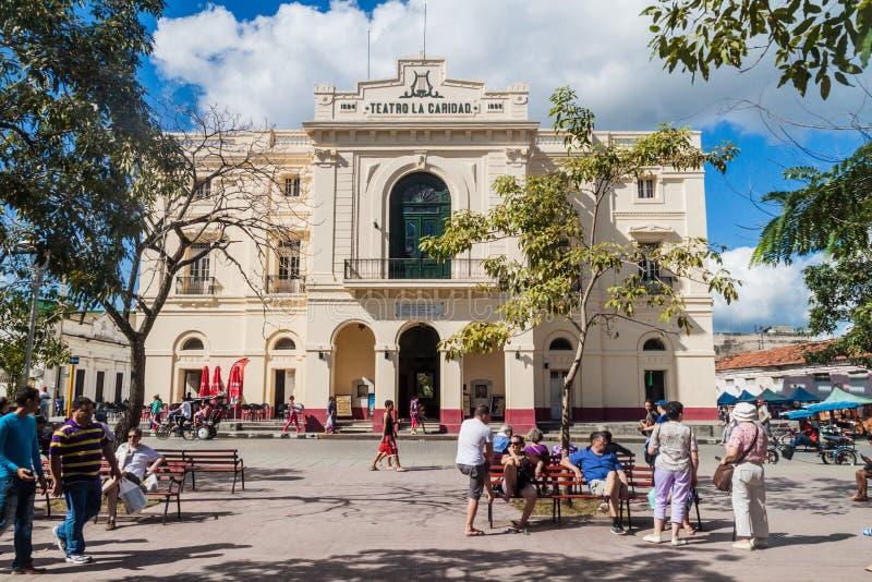 SANTA CLARA, CUBA - 13 FÉVRIER 2016 : Théâtre de Cardid de La de Teatro à la place de Parque Vidal en Santa Clara, Cu photographie stock libre de droits