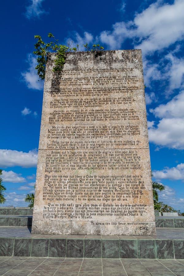 SANTA CLARA, CUBA - 13 FÉVRIER 2016 : Une partie de monument de Che Guevara en Santa Clara, Cu photographie stock