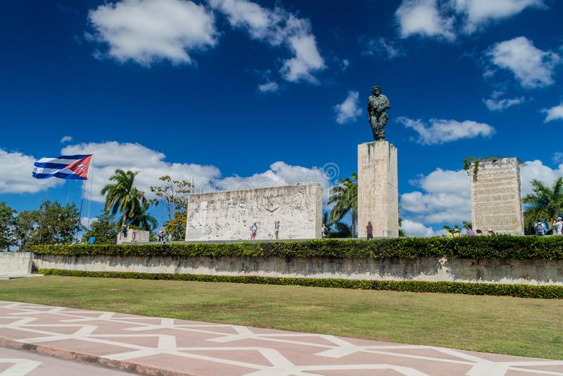 SANTA CLARA, CUBA - FEB 13, 2016: Tourists visit Che Guevara monument in Santa Clara, Cu. Ba royalty free stock photography