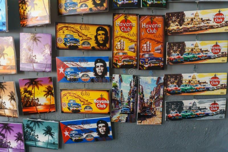 Santa Clara, Cuba, January 5, 2017: souvenirs from local shop in Santa Clara, Cuba. stock photos
