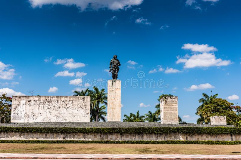Plaza Che Guevara. Santa Clara, Cuba / March 16, 2016: Bronze statue of revolutionary military leader Che Guevara royalty free stock photo