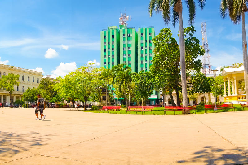 SANTA CLARA, CUBA - SEPTEMBER 08, 2015:View royalty free stock images