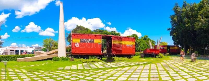 SANTA CLARA, CUBA - 8 SETTEMBRE 2015: Questo treno immagini stock libere da diritti
