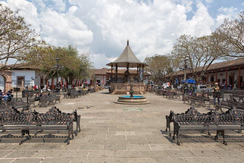 Santa Clara Del Cobre, Meksyk centrum teren fotografia stock