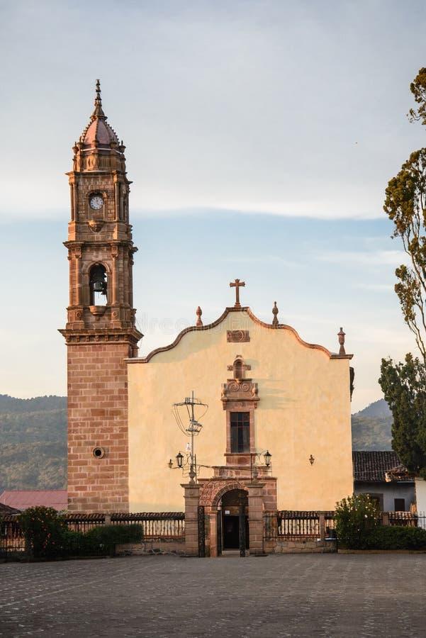 Santa Clara del cobre. Templo de la Purísima Concepcion. Santa Clara del Cobre, Michoacan-Mexico stock photos