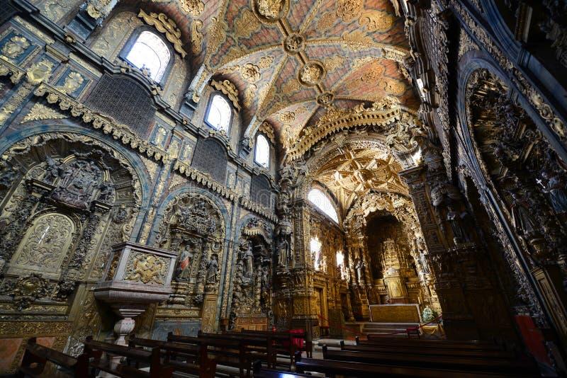 Santa Clara kościół, Porto, Portugalia obrazy stock