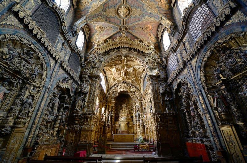Santa Clara kościół, Porto, Portugalia fotografia stock