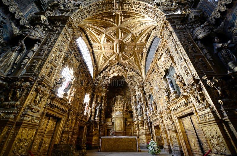 Santa Clara kościół, Porto, Portugalia zdjęcie stock
