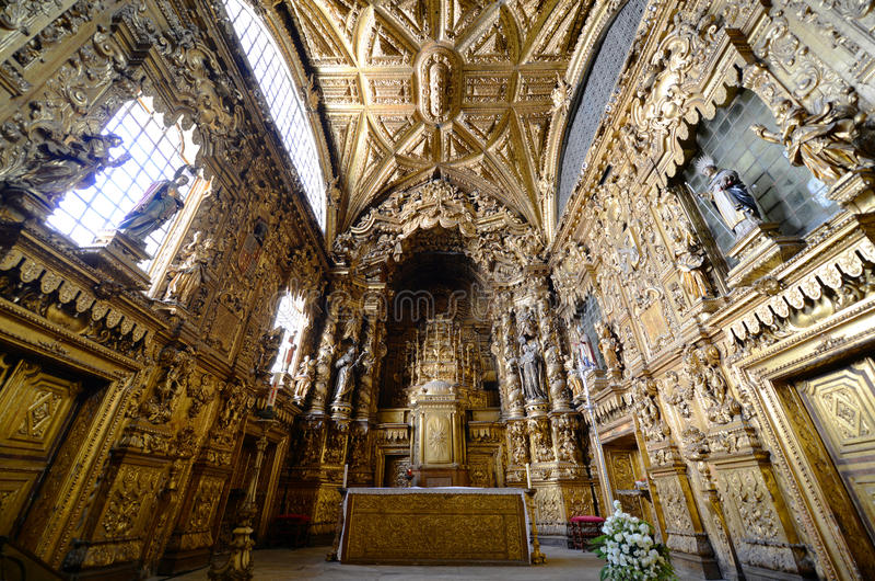 Santa Clara kościół, Porto, Portugalia obrazy royalty free