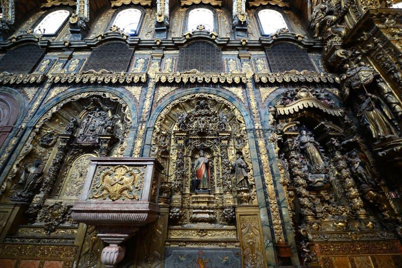 Santa Clara kościół, Porto, Portugalia fotografia royalty free