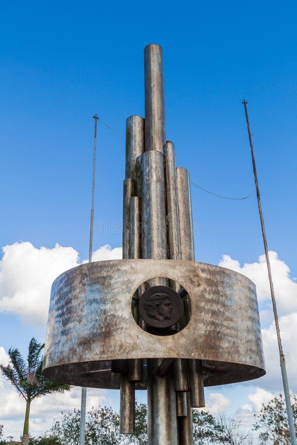 SANTA CLARA, KUBA - 13. FEBRUAR 2016: Che Guevara-Monument an Loma del Capiro-Hügel in Santa Clara, CUB lizenzfreies stockfoto
