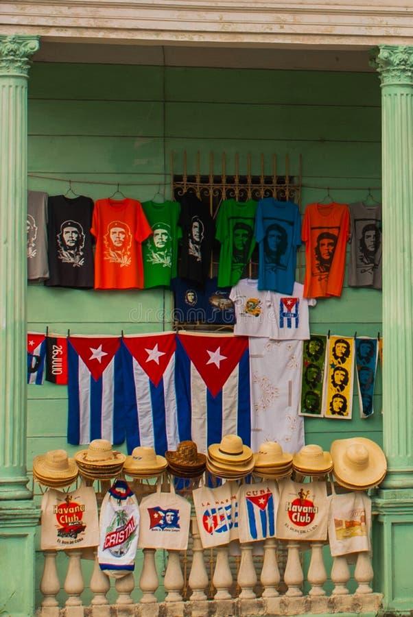 Santa Clara, Kuba: Rysować na domowym Che Guevara Bohater Kubańska rewolucja jest bohaterem narodowym wewnątrz po całym Kuba Jego obraz stock