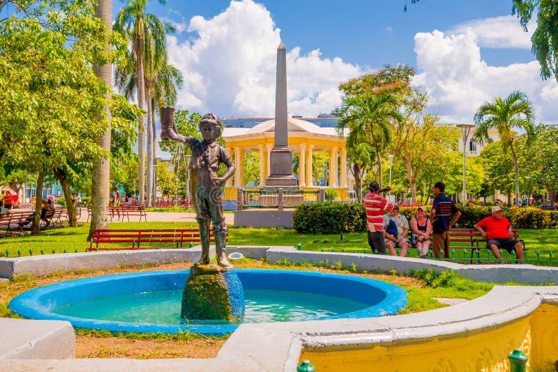 SANTA CLARA KUBA - SEPTEMBER 08, 2015: Visa arkivfoton
