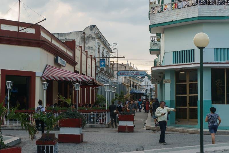 Santa Clara, Kuba, Styczeń 5, 2017: Uliczny widok na Santa Clara, Kuba Ogólny podróży metaforyka obraz royalty free