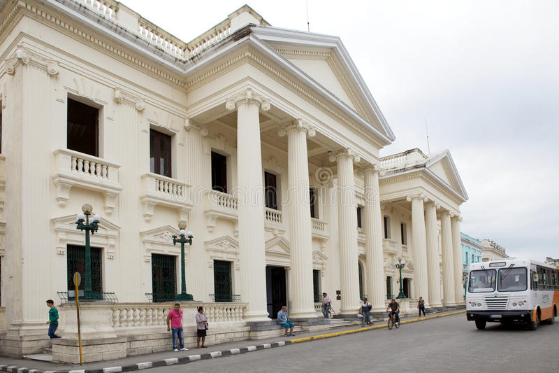 Santa Clara. Marti Library, former City Hall, in Santa Clara, Cuba stock image
