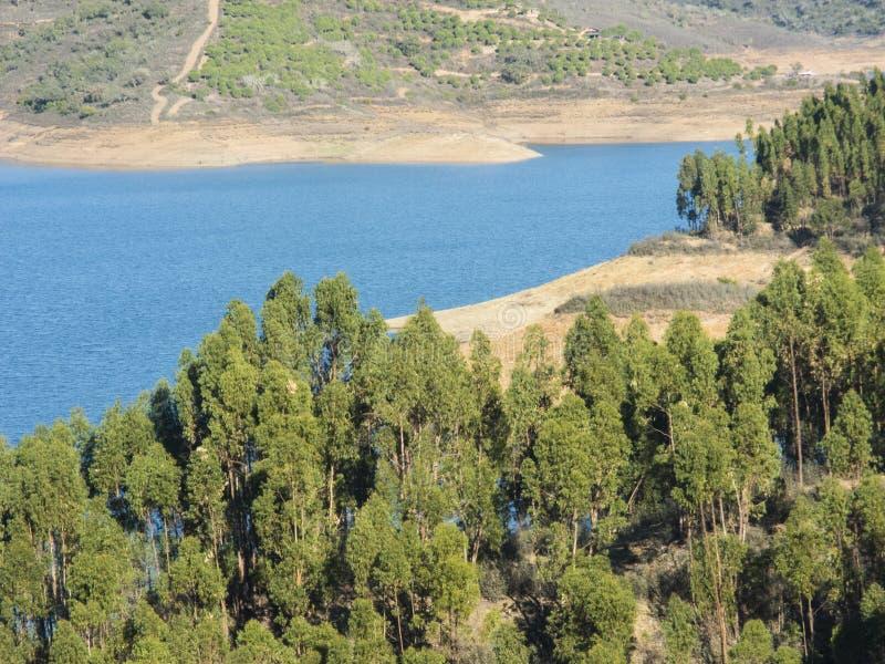 Santa Clara rezerwuar w Alentejo zdjęcia stock