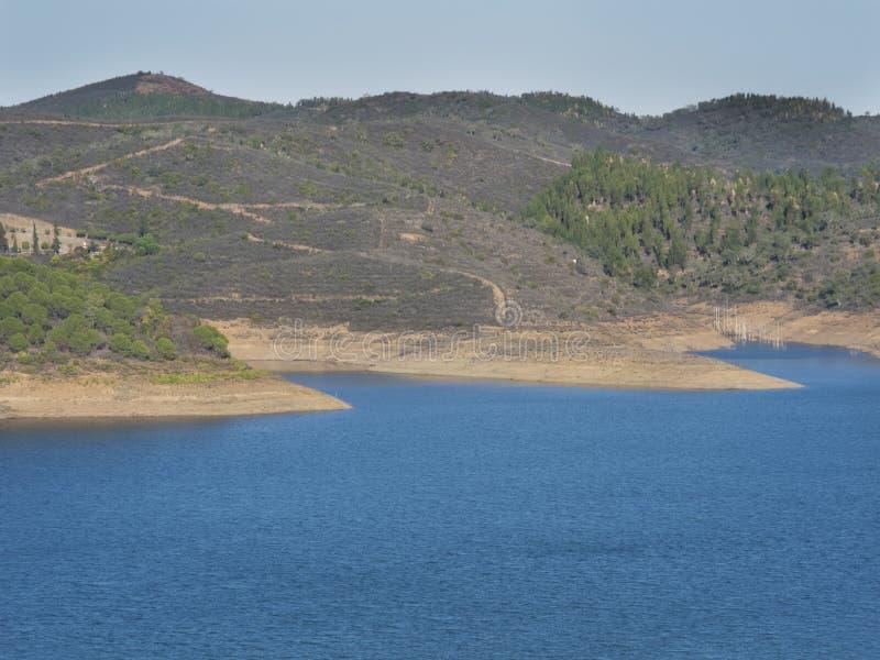 Santa Clara rezerwuar w Portugalia zdjęcie royalty free