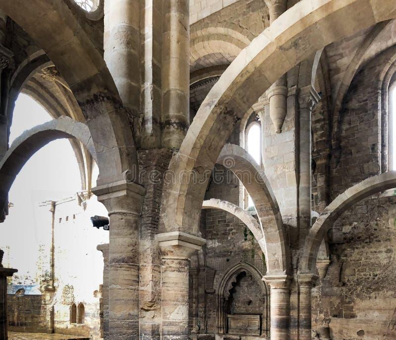 The Santa Clara a Velha Monastery, Coimbra, Portugal. Ruins of The Santa Clara a Velha Monastery, located in the city of Coimbra, Portugal, had difficulties royalty free stock image