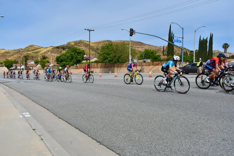Santa Clarita, Ca Los E.E.U.U. 18 de mayo de 2019 Viaje de AMGEN de la raza de la etapa 7 de California a trav?s de Santa Clarita fotos de archivo libres de regalías
