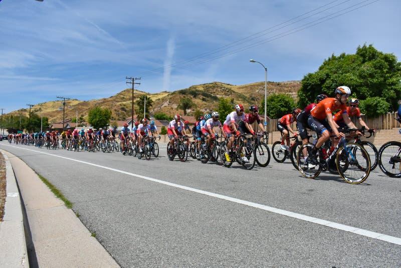Santa Clarita, Ca USA am 18. Mai 2019 AMGEN-Ausflug des Rennens Kalifornien-Stadiums 7 durch Santa Clarita auf dem Weg nach Pasad stockbild