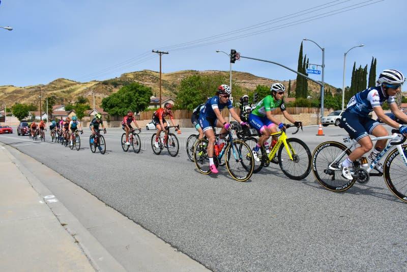 Santa Clarita, Ca USA am 18. Mai 2019 AMGEN-Ausflug des Rennens Kalifornien-Stadiums 7 durch Santa Clarita auf dem Weg nach Pasad stockfoto