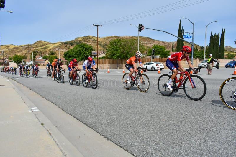 Santa Clarita, Ca USA am 18. Mai 2019 AMGEN-Ausflug des Rennens Kalifornien-Stadiums 7 durch Santa Clarita auf dem Weg nach Pasad lizenzfreie stockbilder
