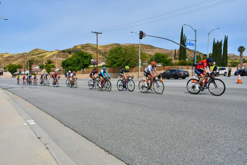 Santa Clarita, Ca USA am 18. Mai 2019 AMGEN-Ausflug des Rennens Kalifornien-Stadiums 7 durch Santa Clarita auf dem Weg nach Pasad stockbilder