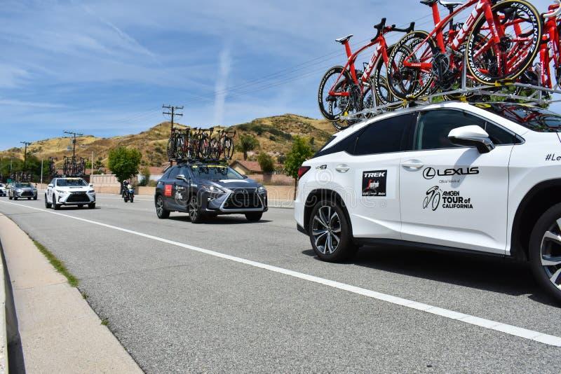 Santa Clarita, Ca USA am 18. Mai 2019 AMGEN-Ausflug des Rennens Kalifornien-Stadiums 7 durch Snta Clarita auf dem Weg nach Pasade lizenzfreie stockbilder