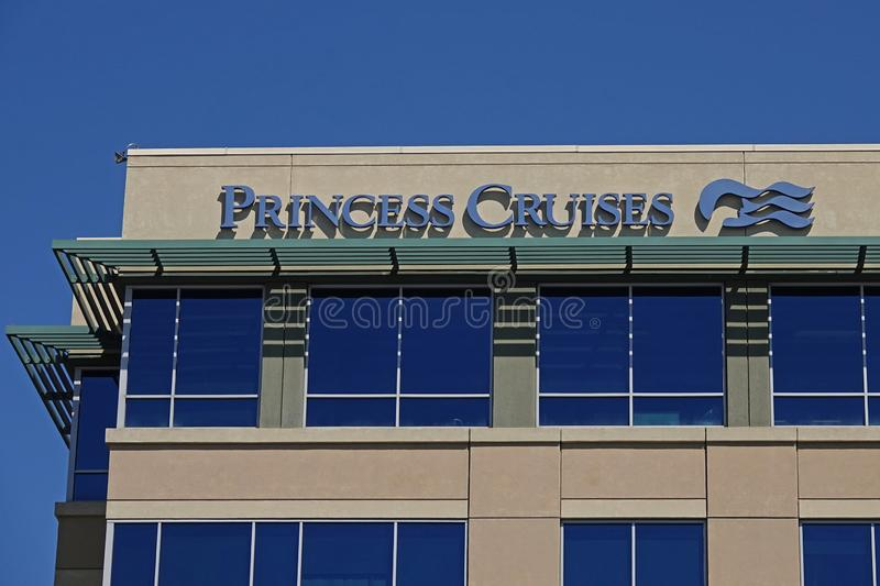 Princess Cruises Headquarters in Santa Clarita, California, USA. Santa Clarita, CA / USA - Sept. 25, 2019: The Princess Cruises headquarters office building is stock photos