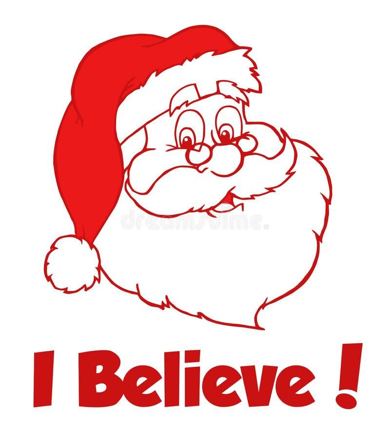 Santa classique rouge illustration libre de droits