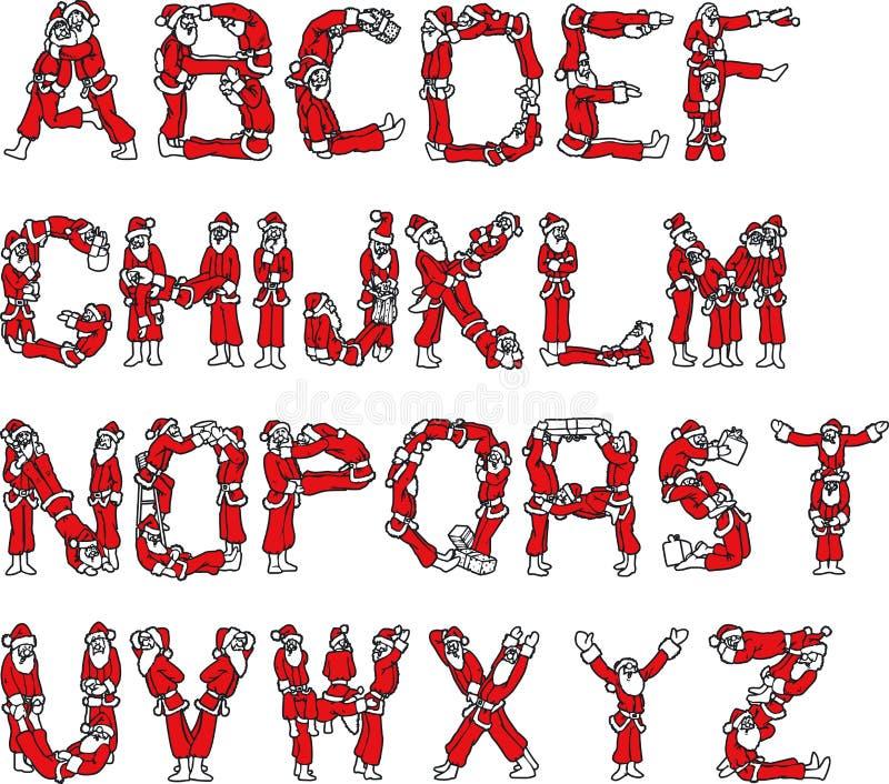 santa Claus αλφάβητου απεικόνιση αποθεμάτων