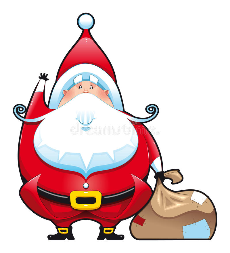 santa Claus τσαντών απεικόνιση αποθεμάτων