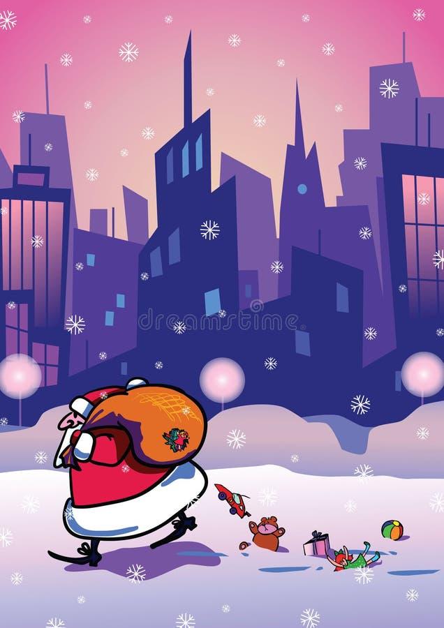 Download Santa Claus stock vector. Illustration of sack, village - 16090611