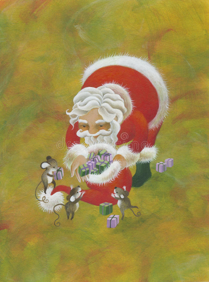 Download Santa Claus stock illustration. Illustration of happiness - 16278911