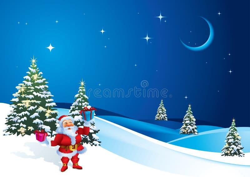 Download Santa Claus διανυσματική απεικόνιση. εικονογραφία από τοπίο - 17050523