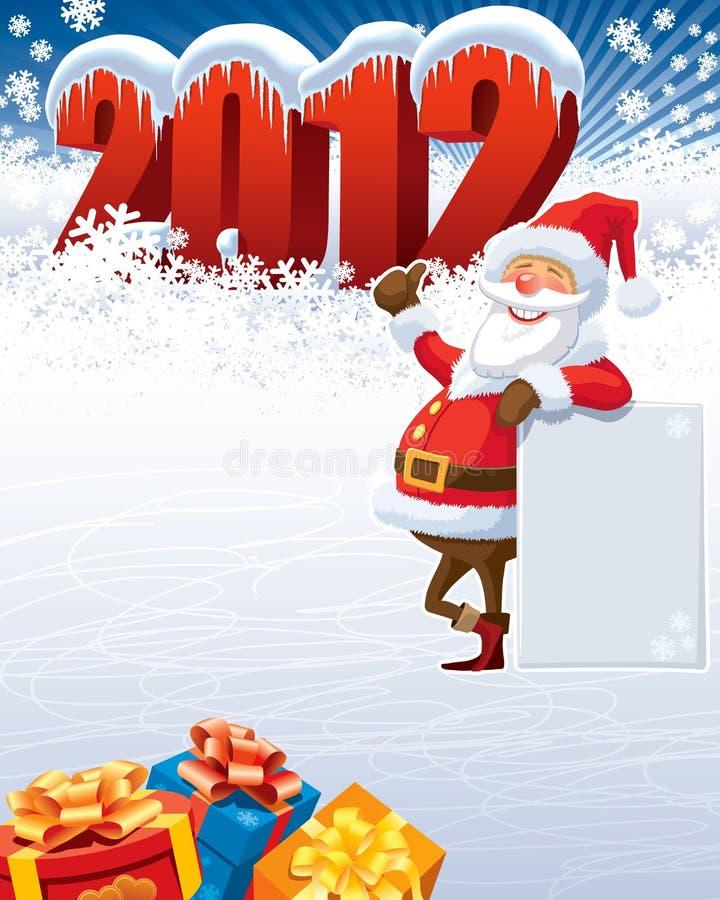 Download Santa Claus 2012 stock vector. Image of 2012, design - 21875494