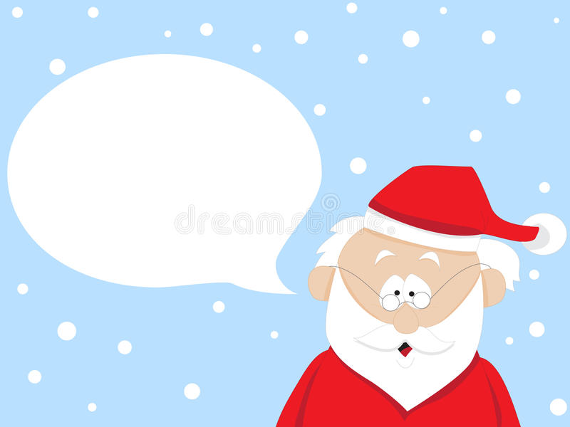 Download Santa Claus stock vector. Image of claus, speaks, christmas - 21318568